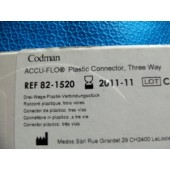 Codman Accu-Flo Plastic Connector, Three Way (Each)